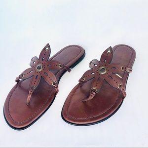 Banana republic Brown Leather Sandals, Sz 9